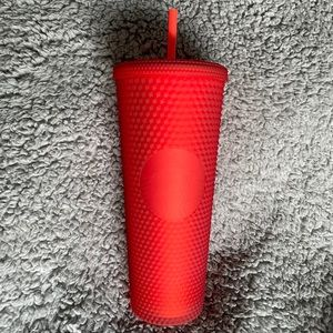 Starbucks Matte Red Cold Cup Spiked Tumbler Venti